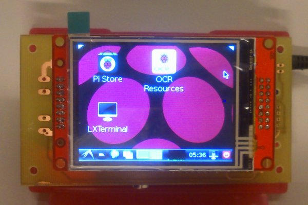 Raspberry Pi mit funktionierendem SPI-Touch-Display