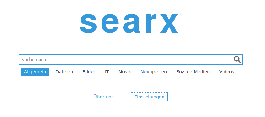 searx index-site